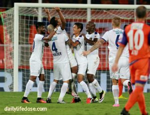FC Pune City and Chennaiyin FC ends at 1-1 draw