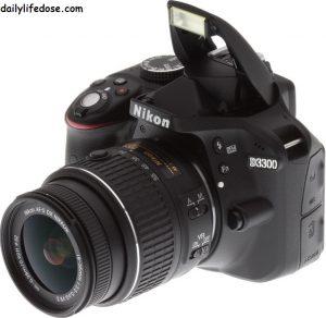 Nikon D3300 24.2MP Digital SLR Camera, Black with AF-P DX NIKKOR 18-55mm f3.5-5.6G ED VR Lens, Memory Card and Camera Bag
