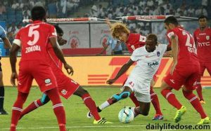 NorthEast United FC and Delhi Dynamos ends at 1-1 draw