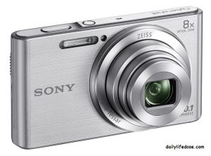 Sony Cybershot DSC-W830S 20.1MP Digital Camera ( Silver) with 8x Optical Zoom, Memory Card and Camera Case