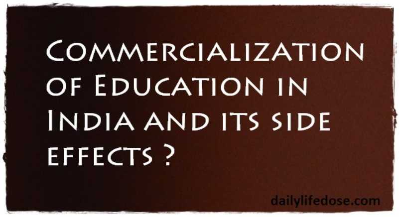 Commercialization of Preparatory Education in India