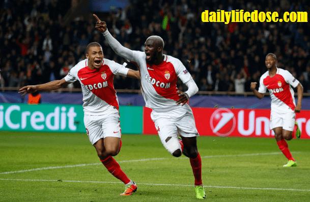 Manchester city vs Monaco: 1-3