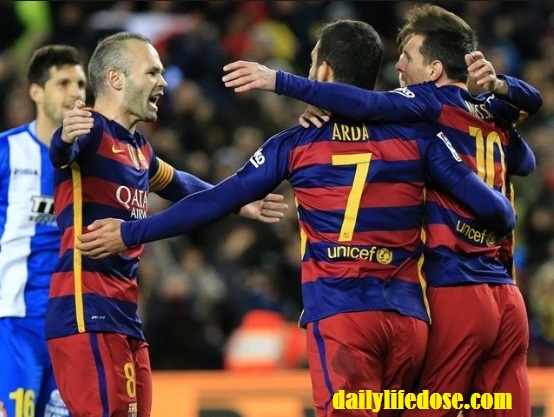 BARCELONA DEFEATED GRANADA WITH EASE