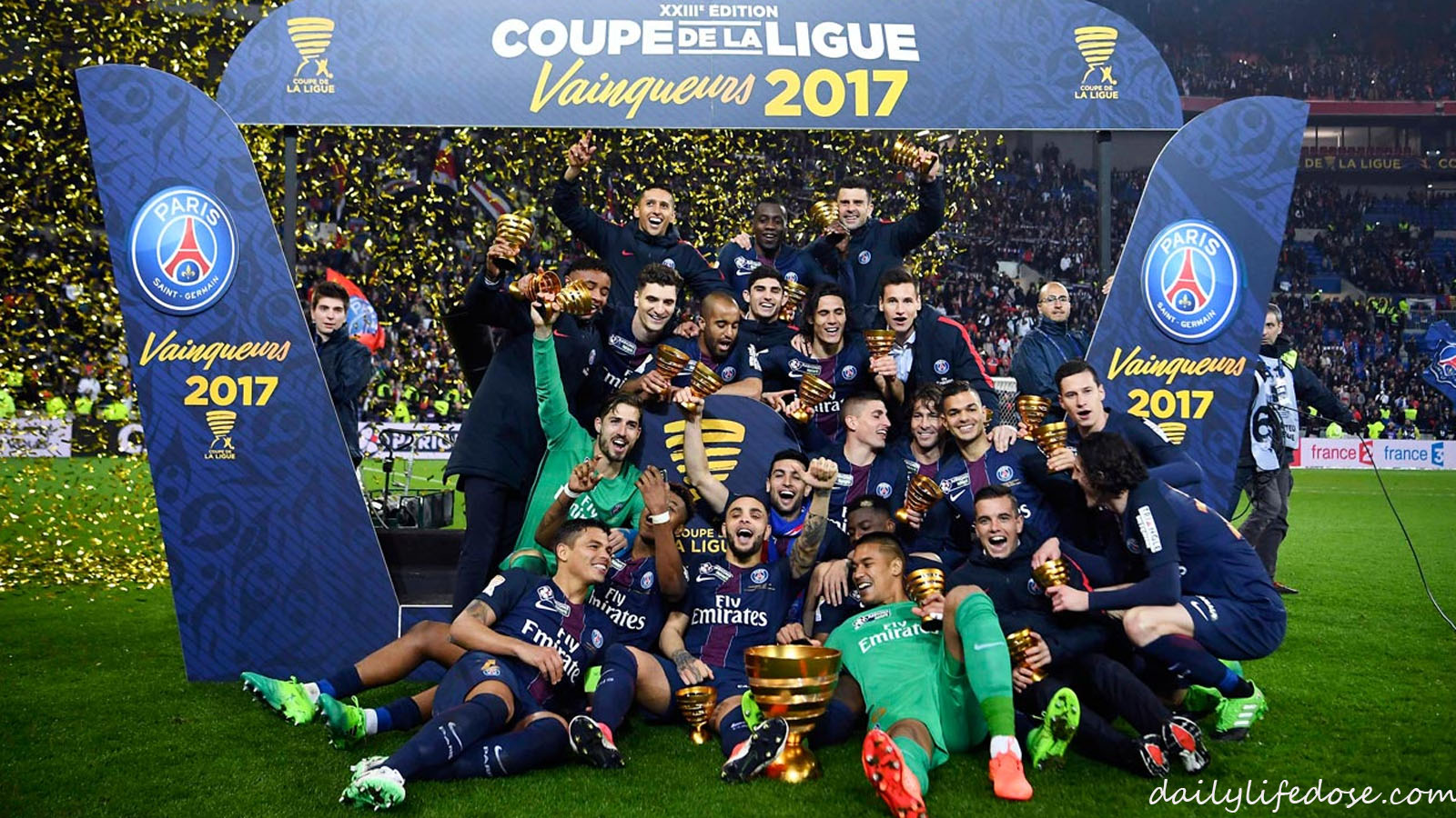 PSG THRASHES MONACO TO WIN FRENCH LEAGUE CUP