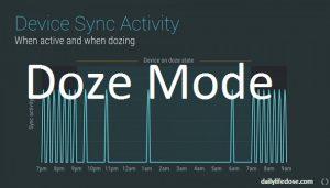 Androids Nougats Doze Mode