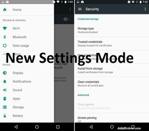 Androids Nougats New Settings Mode
