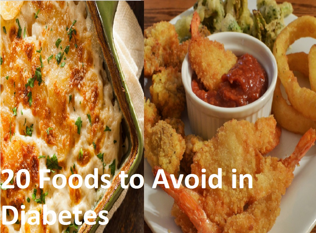 20 Foods to Avoid in Diabetes