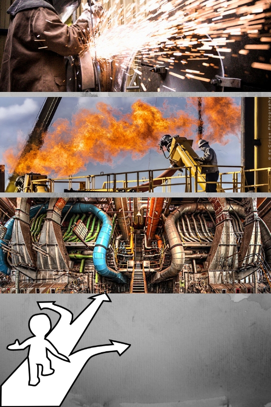 Choose right area for industrial photography